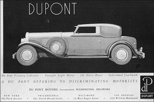 Image result for 1930 duPont cabriolet ad