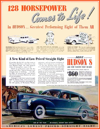 1940 Hudson Car Ad