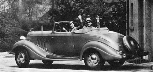 Terraplane six convertible coup 233 is entirely new and in styling look