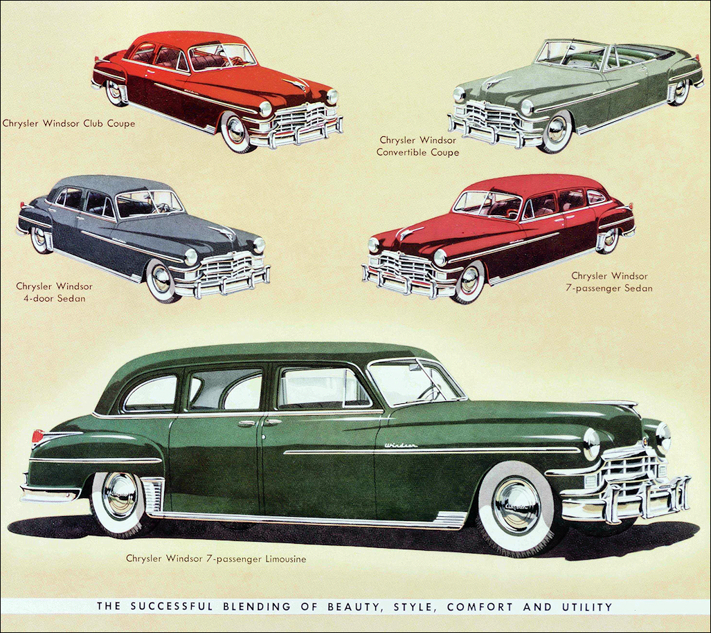 Chrysler 1949 Town Country New Yorker 8 Cyl 3235 Cuin 135 Hpwb 1315 In 2 Door Club Coup Convertible 4 Sedan Imperial