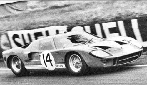 Ford Gt  Engine Ford   Cc John Whitmore Innes Ireland At H Le Mans Ford Advanced Vehicles Alan Mann