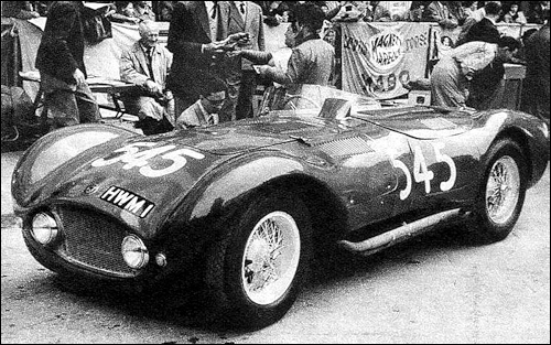 HWM, chassis #106, engine: Jaguar XK 3400 cc, (John Heath) entered by H. W. Motors did not finish the race (fatal accident).