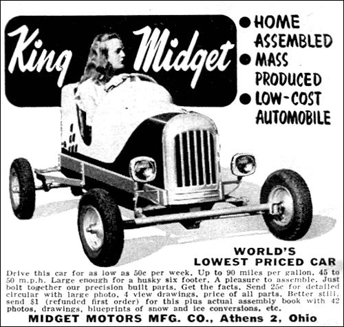 King midget 1949 classic car catalogue malvernweather Gallery