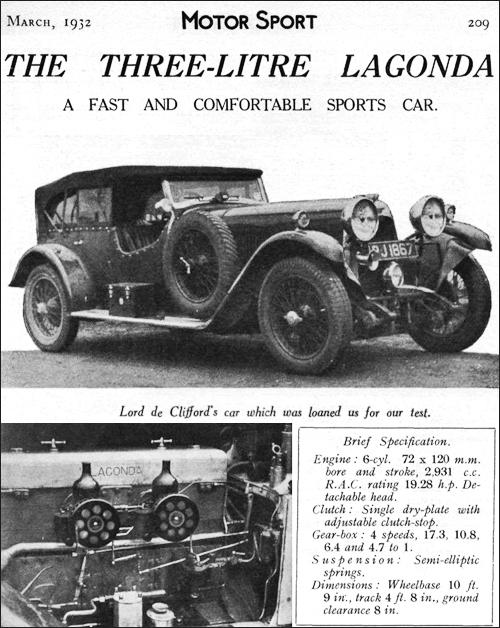 Lagonda 1932